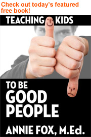 Today's featured free book is Teaching Kids to Be Good People: Progressive Parenting for the 21st Century.