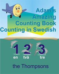 One of today's free language books is Adam's Amazing Counting Book Counting in Swedish.