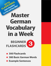 Master German Vocabulary in a Week: Beginner Flashcards 3 is one of today's free language books.