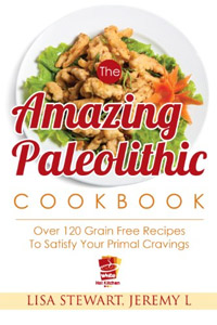 The Amazing Paleolithic Cookbook: Over 120 Gluten Free Recipes To Satisfy Your Primal Cravings is today's highest-rated free food/recipe book.