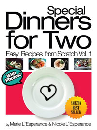 Special Dinners for Two is today's highest-rated free food/recipe book.