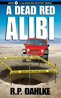 Fun mystery novel A Dead Red Alibi is today's highest-rated free Kindle book.