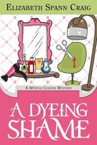 Cozy mystery A Dyeing Shame (Myrtle Clover Mysteries Book 3) is today's featured free Kindle book.