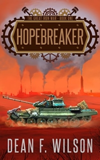 Steampunk dystopian fantasy Hopebreaker is today's highest-rated free Kindle book.
